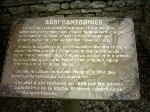Descriptif de l'abri de cantonnier La Mothe saint-Héray